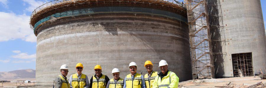 شركة الإنماء والبناء تنتهي من تنفيذ عمل الانزلاق في سيلو الكلنكر